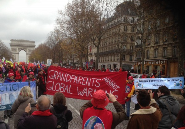 Les Grands-parents à Paris le 12 dec 2015