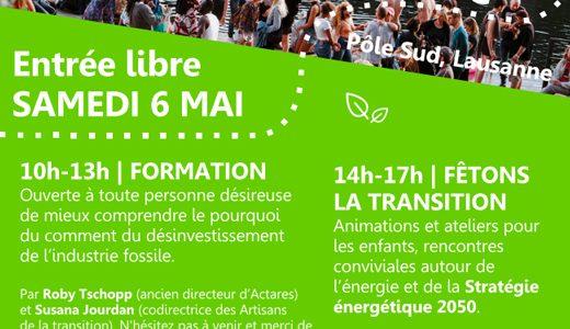 Ce samedi 6 mai : formation et après-midi festif à Pôle Sud – Lausanne