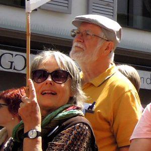 Le couple Dubochet manifeste pour le climat