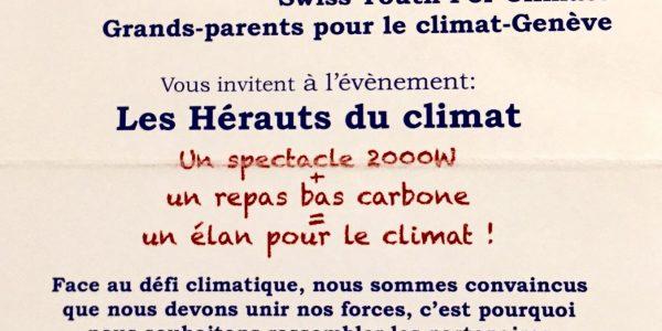 Les hérauts du climat : soirée de soutien mercredi 17 octobre
