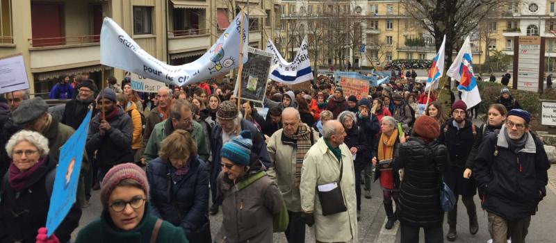 Grève du Climat à Lausanne, 18 janvier 2020.