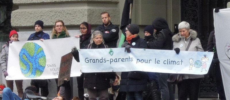 Bern, 8 décembre 2018, devant le Palais fédéral